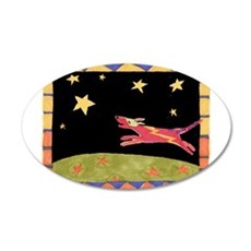 Star Dog 22x14 Oval Wall Peel
