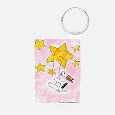 Wire Fox Terrier Star/Moon Keychains