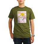 Wire Fox Terrier Star/Moon Organic Men's T-Shirt (