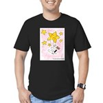 Wire Fox Terrier Star/Moon Men's Fitted T-Shirt (d