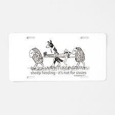 Sheep Herding Sissies Aluminum License Plate