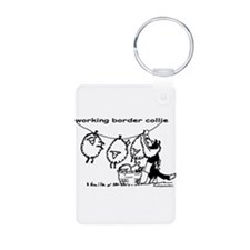 Working Border Collie Keychains