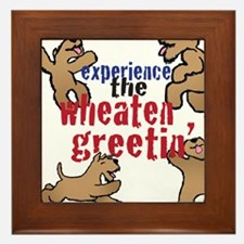 Wheaten Greetin' Framed Tile