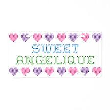 Sweet ANGELIQUE Aluminum License Plate