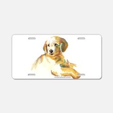 Golden Puppy - darling Aluminum License Plate