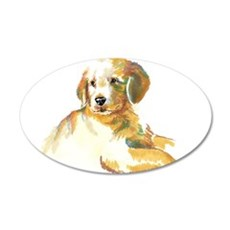 Golden Puppy - darling 22x14 Oval Wall Peel