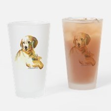 Golden Puppy - darling Drinking Glass