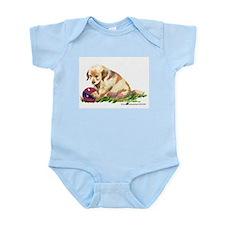 Golden retriever puppy with b Infant Bodysuit