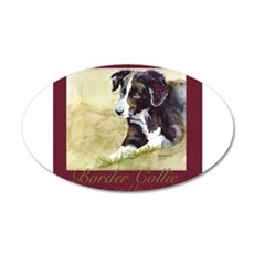 Border Collie Beauty & Brains 22x14 Oval Wall