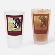 Border Collie Beauty & Brains Drinking Glass