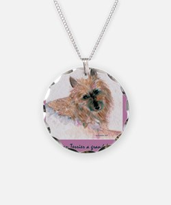 Red Australian Terrier FACE Necklace