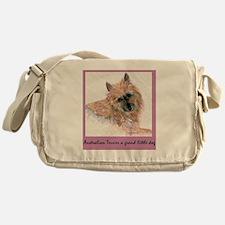 Red Australian Terrier FACE Messenger Bag