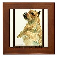 Red Australian Terrier Beg Framed Tile