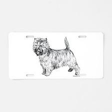 Cairn Terrier pen & ink Aluminum License Plate