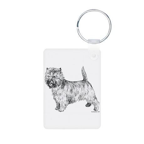 Cairn Terrier pen & ink Aluminum Photo Keychain