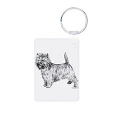 Cairn Terrier pen & ink Keychains