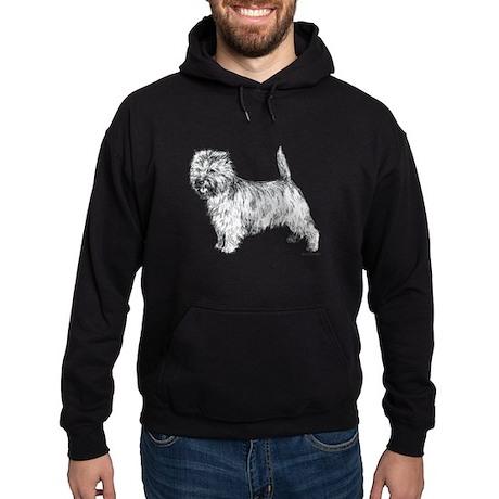 Cairn Terrier pen & ink Hoodie (dark)