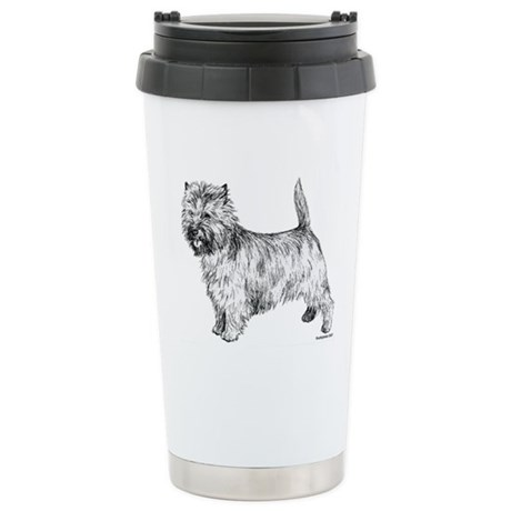 Cairn Terrier pen & ink Stainless Steel Travel Mug