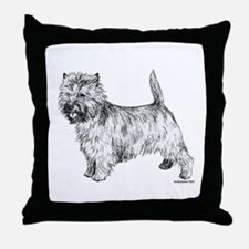 Cairn Terrier pen & ink Throw Pillow