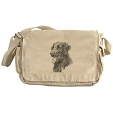 Flat Coated Retriever Messenger Bag