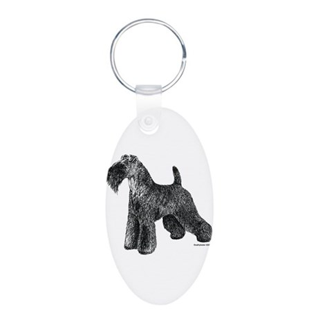 Kerry Blue Terrier Aluminum Oval Keychain