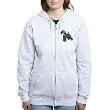 Kerry Blue Terrier Zip Hoodie