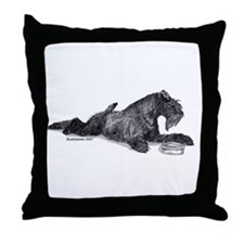 Kerry with Bowl Throw Pillow