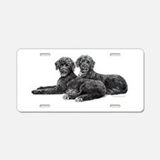Portuguese Water Dogs Aluminum License Plate