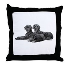 Portuguese Water Dogs Throw Pillow