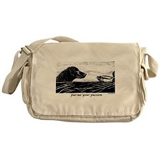 Pursue Your Passion Curly Coa Messenger Bag