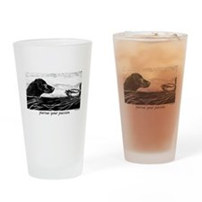 Pursue Your Passion Curly Coa Drinking Glass
