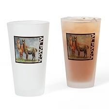 Alpaca Pair Drinking Glass
