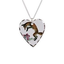 Fox and Present Necklace