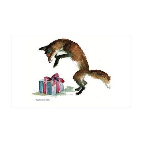 Fox and Present 38.5 x 24.5 Wall Peel