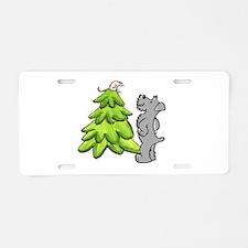 Schnauzer Christmas Aluminum License Plate