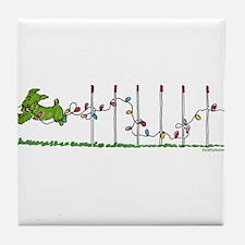 Agility Christmas Lights Tile Coaster