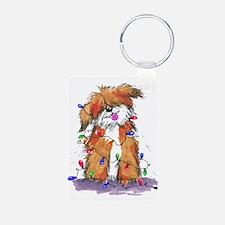 Light String Doggie Keychains
