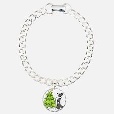 Border Collie Christmas Charm Bracelet, One Charm
