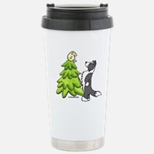 Border Collie Christmas Travel Mug