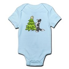 Border Collie Christmas Infant Bodysuit
