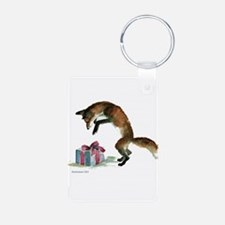 Fox and Present Keychains