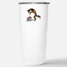 Fox and Present Travel Mug