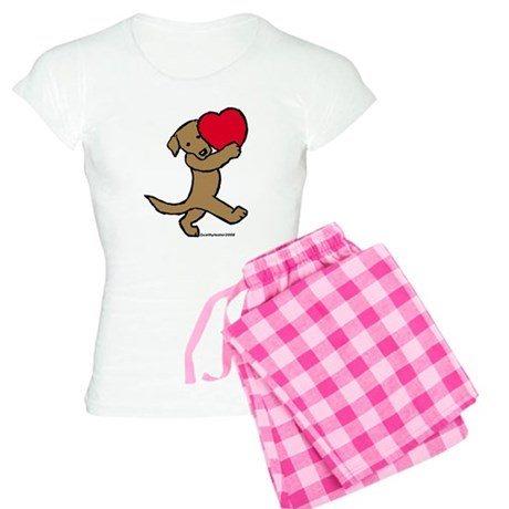 Chocolate Lab Valentine Women's Light Pajamas