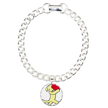 Yellow Lab Valentine Charm Bracelet, One Charm