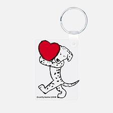 Dalmatian Valentine Keychains