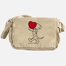 Dalmatian Valentine Messenger Bag