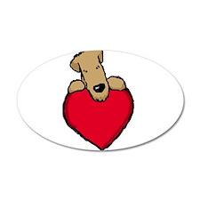 SCWT heart 38.5 x 24.5 Oval Wall Peel