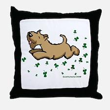 SCWT shamrock Jump Throw Pillow