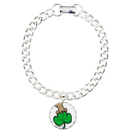 SCWT shamrock Charm Bracelet, One Charm