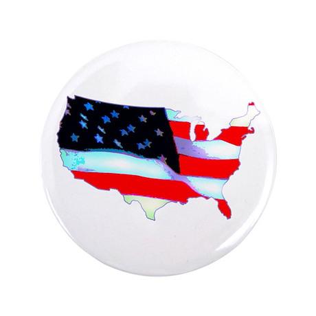 "USA Flag Nation 3.5"" Button"